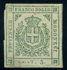 Italy Modena 1859 5 cents MNG Sas 12 CV $720 200123021