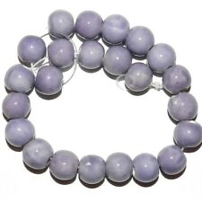 """CPC167 Purple Lilac 9mm - 10mm Round Porcelain Beads 8"""""""