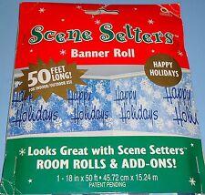 Christmas - Happy Holidays Scene Setter Banner Roll