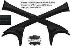 Noir coutures 2x un post pilier cuir peau couvre fits LOTUS ELAN S3 S4