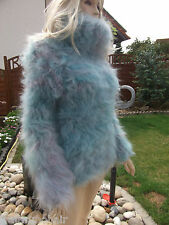 TRAUMMOHAIR P1b Fuzzy Longhair Mohair Pullover Sweater Jumper Cowlneck new S-M