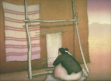 "R.C.Gorman Print-- ""Rug Weaver""--Southwest Art--11 x 14, no borders"