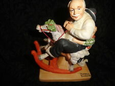"""Gramps at the Reins"" The 12 Norman Rockwell Porcelain Figurines Danbury Mint"