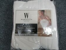 Wamsutta Ladies Terry Spa Cotton Sarong White Closure Brand New In Pack New!