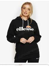 Ellesse Black Logo Hoodie Size 8