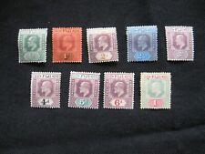 Fiji: 1903 Wmk Crown CA short Definitive Set to 1/- mint