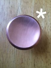 Mid Century Modern Solid COPPER Cabinet Drawer Knob Set of 4 Retro Arts & Crafts