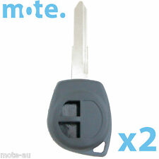 2 x Suzuki 2 Button Key Remote Replacement Case/Shell/Blank