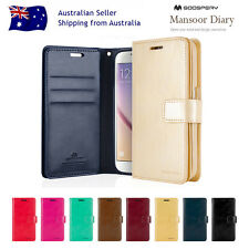 Samsung Note S8+Plus/S7/6/5 edge Mercury Leather Card Luxury Wallet Case Cover