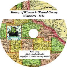 1883 History WINONA &  OLMSTED County Co Minnesota MN
