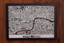 Central London Laser Cut Street Maps Wooden Map