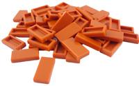 Lego 50 Stück dunkelorange (dark orange) Fliese 1x2 (3069b) Fliesen Kachel Neu
