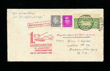 Catapult Cover 1930 Grau K48bvar Unlisted Germany/Usa Franking Seapost Cancel