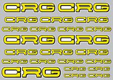Tamaño de la etiqueta engomada Set-A4 CRG Hoja de 23 Pegatinas/Calcomanías-Karting Laminado