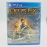 PS4 Deus Ex: Mankind Divided  Day One Edition PlayStation 4 Video Game New
