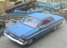 "Autoart,1961 Chevrolet Impala weathered/rust,""junkyard"" barn find,1/24,metal car"