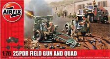 Airfix A01305 1/76 Plastic WWII British 25lb Field Gun & Limber & Quad Truck
