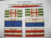 28mm  Renaissance Elizabethan Tudor 16th Century English flags (2)