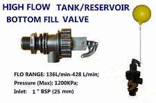 BOTTOM FILL AUTOMATIC FLOAT FLOW VALVE ANIMAL DRINKING TROUGH WATER TANK
