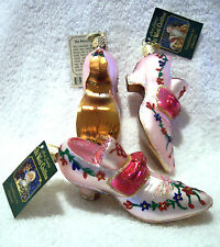 Shoe,Slipper,Old World Christmas,New Collection,Blown Glass,W/Tag & Charm