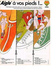 PUBLICITE  1968   AIGLE baskets chaussures détente