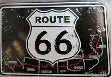 WHOLESALE LOT OF 6 METAL TIN RT ROUTE 66 SIGNS MADE IN THE USA Ca Az NM Tx Ok +