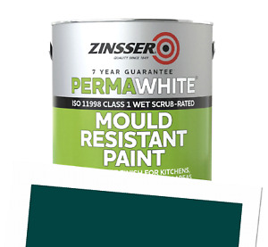 Perma-White Interior Satin Mould Resistant WB Tintable Paint RAL 6004 1L