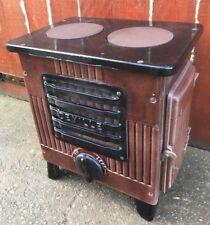 "🔥 Vintage Antique ""DEVILLE"" Cast Iron muLti Fuel Stove Log Wood Burner"