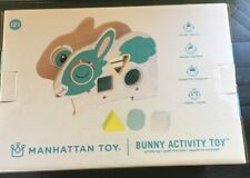 Manhattan Toy Bunny Activity Toy for Social/Motor/Cognitive/Visual Skill 12m New