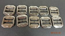 "1""  Utility Strap Western Buckles - PISTOL/REVOLV ER  Nickle Plate - LOT OF 10"