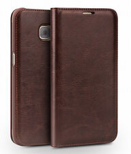 Genuine Leather Samsung Galaxy S7 Edge Luxury Wallet Card Flip Case I32Edge