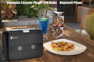 Bluetooth Carrying Cassette Player Standalone Music Player with Earphones SN