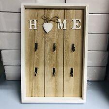 Home Key Vintage 6 Keys Rack Hook Wooden Wall Decoration Organize Holder Gift