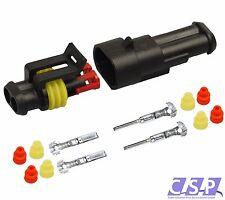 AMP Superseal Stecker Set 2-polig 0,75-1,50 AUTO LKW, Motorrad wasserdicht