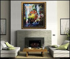James Coleman Large Giclee On Canvas Hand Embellished Signed Paradise Home Art
