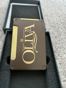 Lotus Duet Oliva Table Top Triple Torch Lighter with Cigar Punch - New