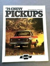 1974 Chevrolet Truck Original Sales Brochure Catalog - Silverado Chevy