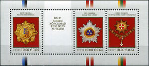 ESTONIA - 2008 - M/SHEET MNH ** - Highest State Awards of the Baltic Countries