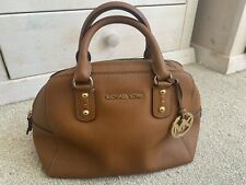 Michael Kors Mk Small Bag Tan Brown & Gold