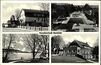 REINFELD Holstein Mehrbild-AK ~1950 Bus am Genesungsheim Park Igel Gartenhaus