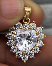 "18K Yellow Gold Filled- 0.8"" Flower Love Topaz Zircon Sexy Cocktail Lady Pendant"
