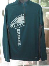 NEW Men's NFL Philadelphia Eagles Lightweight Quarter Zip Performance Top, Sz M