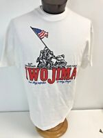 VTG 1995 Iwo Jima 50th Anniversary T-shirt White XL Military Marines