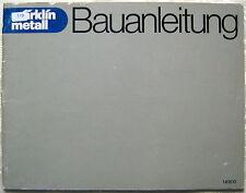 Anleitung MÄRKLIN Metall Bauanleitung 14900 Handbuch 1977 Vintage