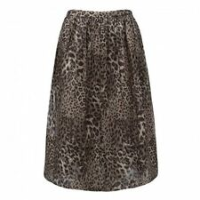 Mid-Calf Animal Print Hand-wash Only Skirts for Women