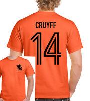Johan Cruyff 14 Mens Retro Holland Football Player T-Shirt Dutch Yohan Ajax Top
