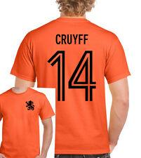 Johan Cruyff 14 Hombre Retro Holanda Futbolista Camiseta Holandés Yohan Ajax Top