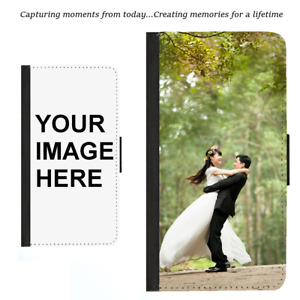 For Samsung S21 Plus Note 20 9 Ultra Wallet Case Custom Personalised Photo Image