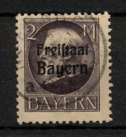 (YYAU 666) Bayern 1919 USED Mich 166 Scott 207 Bavaria Germany