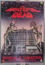 GratefuL Dead WarfieLd BiLl Graham PreSentS 2nd Print PoSter